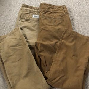 Lot of 2 khaki American Eagle/Abercrombie pants